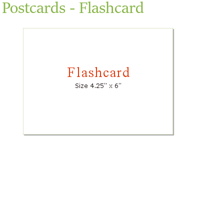 postcards flashcard sunrise marketing