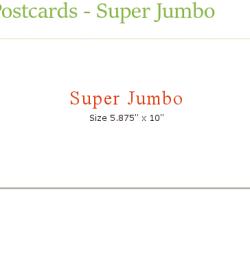 jumbo postcard size